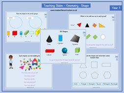 year 1 autumn 1 block 3 geometry shapes fluency teaching slides