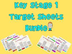 Child Friendly Targets Sheets Bundle for KS1