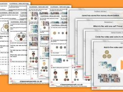 Year 2 Count Money - Notes and Coins Autumn Block 3 Step 3 Lesson Pack