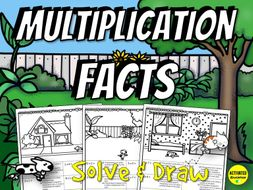 Multiplication Facts Solve & Draw Activity