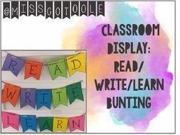 Bunting - Classroom Display