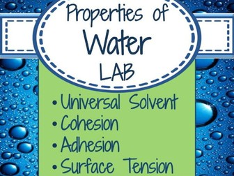 Lab Unique Properties Of Water By Scienceisland Teaching