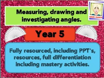 ANGLES -  A Week of  Investigating, Drawing and Measuring.