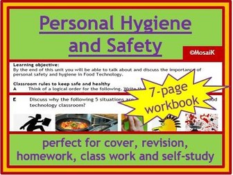 Food tech personal hygiene and safety