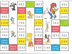 Times Table Board Games