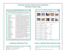 Parenting Activities Combo Activity Worksheets