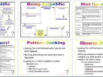 Being Scientific: Working Scientifically in Enquiry and Investigation - Enquiry Types