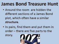 James Bond Structure Lesson - KS3 Introduction