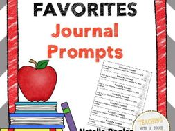 Favorites Journal: 25 Journal Writing Prompts