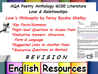 Love's Philosophy Revision
