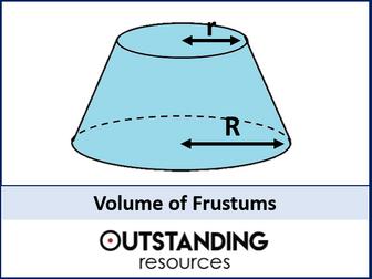 Volume 4 - Volume of Frustums (+ Worksheet)