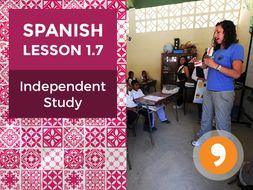 Spanish Lesson 1.7: La Clase de Español - Independent Study