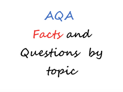 AQA Spanish Facts and Questions of all topics