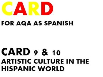 SPEAKING CARDS 9 & 10 for AQA AS SPANISH (new specification)