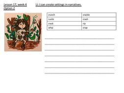Year 3 English Scheme of Work based on The Stone Age WEEK 4