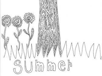 Summer: Seasons: Colouring Page
