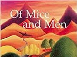 Crooks and Lennie 'Of Mice and Men': worksheet including multiple tasks and PEE writing structure
