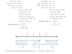 Quadratic Inequality And Simultaneous Inequality Worksheets By