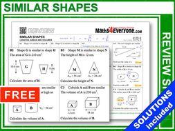 Similar Shapes (GCSE Topic Review)