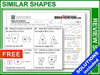 Similar Shapes (GCSE Topic Review)