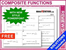 Composite Functions (GCSE Topic Review)