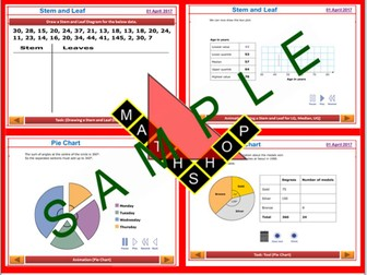 Stats Stem and Leaf Pie Chart GCSE Revision