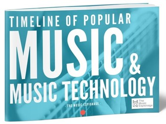 Timeline of Popular Music and Music Technology-POSTER + eBOOK