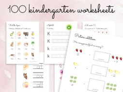 100 Kindergarten Worksheets