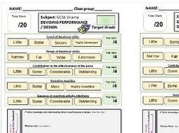 AQA Drama -6 Feedback Sheets - Devising Drama