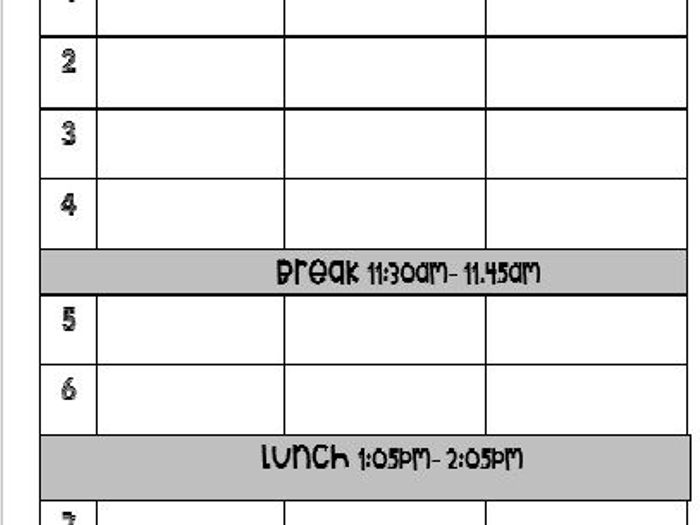 photograph about Weekly Planner Sheet known as Weekly Trainer Planner- editable