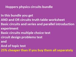 KS 3 or CE electrical circuits bundle