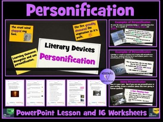 Personification - PowerPoint Lesson and Worksheets