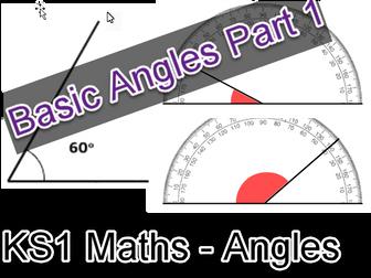 KS1 Maths Basic Angles Worksheet