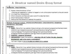 AQA Language and Literature 'A Streetcar Named Desire'