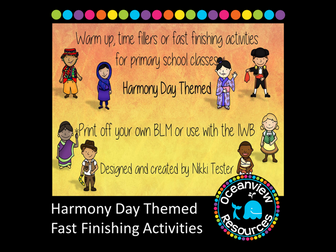 Harmony Day Themed Fast Finishing Activities