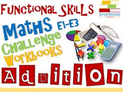 Functional Skills Maths Workbook BUNDLE Addition, Subtraction & Multiplication
