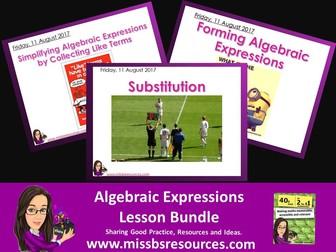 Algebraic Expression Lesson Bundle