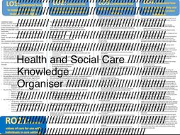 Health and social knowledge organiser