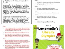 Mr. Lemoncello's Library Olympics Discussion Questions and Answers