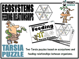 Ecosystems and Feeding Relationships Tarsia Puzzle