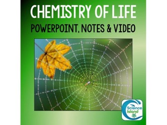Chemistry of Life PowerPoint and Notes for Biology