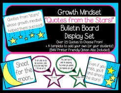 Growth Mindset Quotes from the Stars Decor