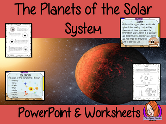 The Planets of the Solar System PowerPoint and Worksheets