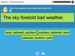 Ordering adjectives - Interactive Activity - KS3 Spag