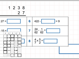 Arithmetic Revision/Practice Year 6 - Daily Ten Set A - 10 sets of 10 questions with QLA assessment