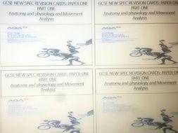 AQA GCSE PE Paper 1 Revision Cards (Part 1 of  2 Parts)