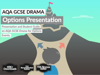 AQA GCSE Drama Options Presentation and Student Guide