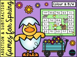 Addition and Subtraction Games for Spring