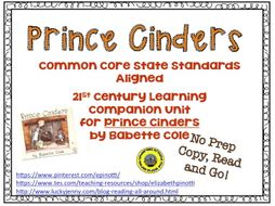 No Prep Book Unit for Prince Cinders
