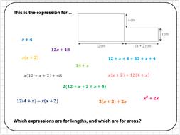 Algebraic Area Reasoning Tasks